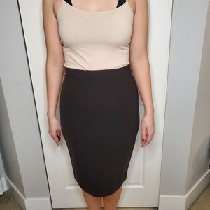 H&M pencil skirt with gold zip